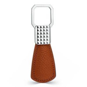 Brown Square Key Fob