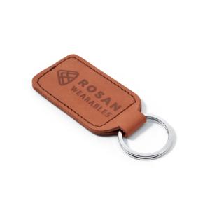 RW Brown Leather Key Fob
