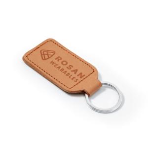RW Light Brown Leather Key Fob