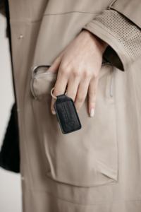 RW Black Leather Key Fob