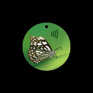 Circle Butterfly Key Fob