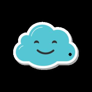 Smiley Cloud Key Fob
