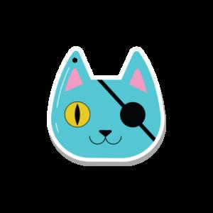 Pirate Cat Key Fob